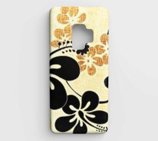 black on khaki hibiscus phone preview
