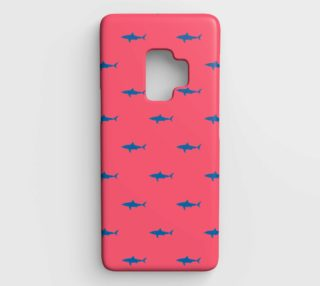 Shark - Blue on Coral preview