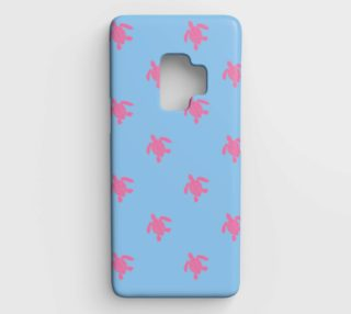 Turtle - Pink on Blue preview