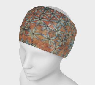 Flower of Life Watercolor Batik Headband preview