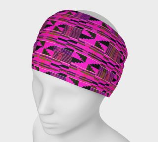 Fuchsia kente print headband preview
