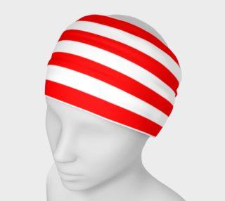 Mainz Carnival headband, Carnival hairband,   Red and white striped headband ,  Red and white striped carnival head band, Red and white striped clothes, red and white striped accessories preview