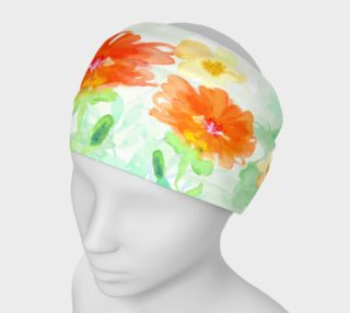 Coral Floral Headband by Deloresart preview