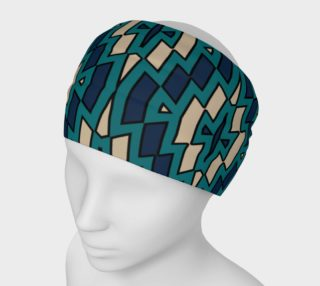 Tribal Diamond Pattern in Navy, Teal and Tan preview