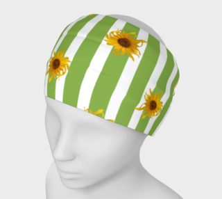 Sunflowers on Green Stripes preview