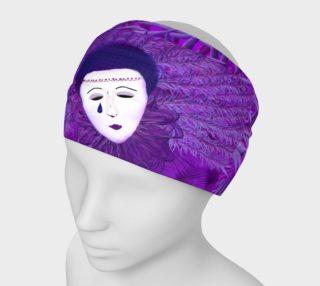 Purple Festival Sad Clown Mask Headband preview