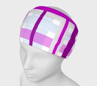 Purple Gingham Headband preview