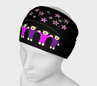 Purple and Pink Sleepy Bears Headband preview
