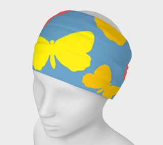 Yellow  and Orange Butterflies on Blue Headband preview