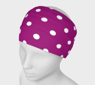 1950s Purple with White Polka Dots Headband preview