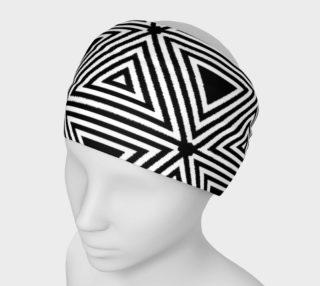 Aperçu de Black and White Triangles Headband