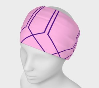 Headband, pink blue lines preview