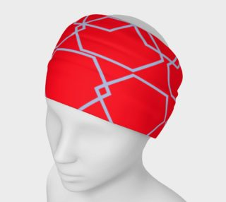 Luxury headband, red silver Blocks preview