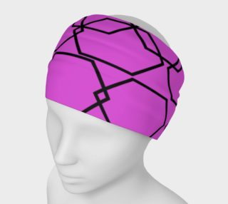 Luxury headband, pink black Elements preview
