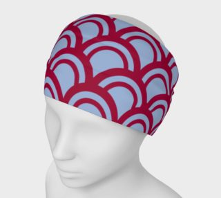 Design headband, silver Red circles preview