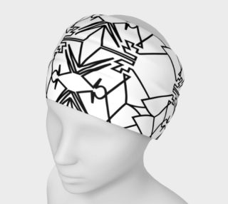 Luxury designers Headband, black white preview