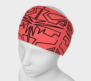 Luxury designers headband, red - black preview