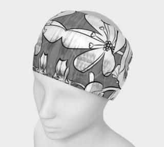 Aperçu de Flower Meadow greys Headband by Deloresart