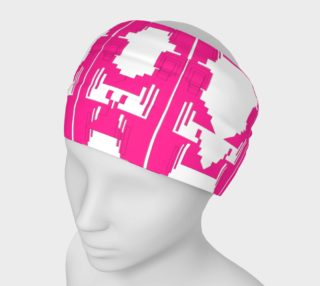 Designers headband, pink white preview