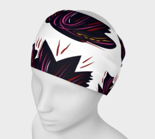 Luxury Headband with Lotuses, black preview