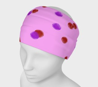 Headbank with pink dots  preview