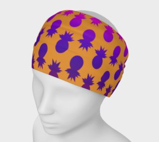 Colorful pineapples orange headband preview