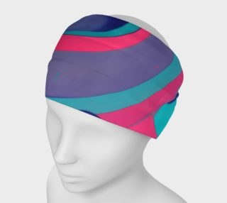 Headband, Pink Purple and Teal Swirls preview