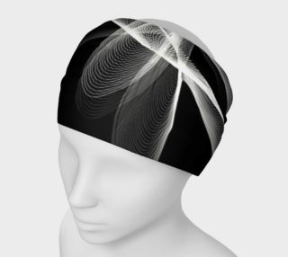 Aperçu de fractale en noir et blanc