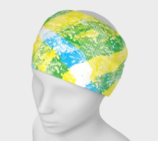 Yellow Blue Green White Paint Stripes Floral Headband preview