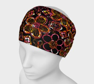 Colorful Stained Glass Look Whimsical Floral Headband preview