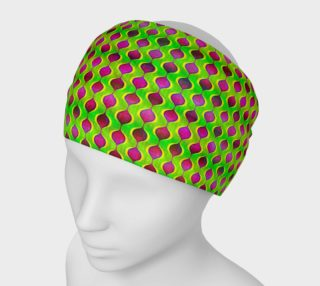 Fun Bright Green Purple Ogee Pattern Headband preview