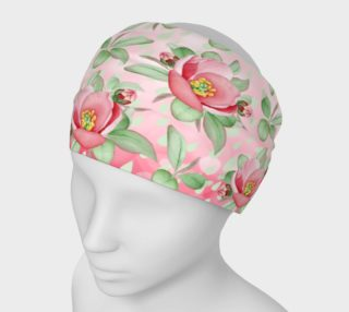 Bold Red Green Wild Rose Floral Headband preview