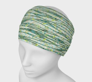 Aperçu de Blue Green Black Nature Floral Headband
