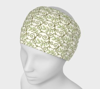 Green Cream Leafy Lace Floral Headband preview