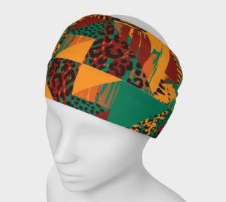 Abstract Safari Print Headband preview