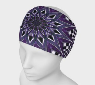 Aperçu de Burst Mandala Purple Headband