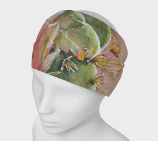 PEACH CACTUS FLOWER HEAD BAND preview