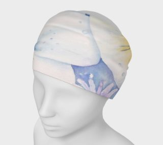 White Pansies Head Band preview