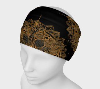 Golden Mandala Pattern Headband preview