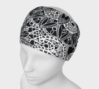 Black and White Mandala Pattern Headband preview