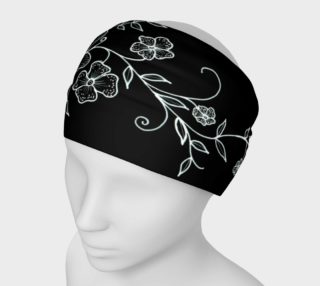 Black and White Floral Ornaments Headband  preview