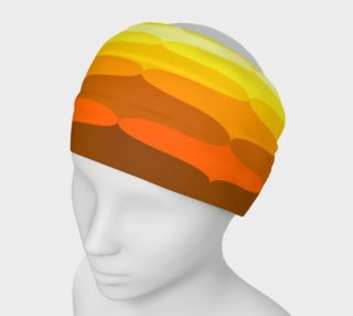 retro orange and browns headband preview