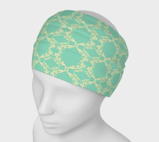 Teal and cream vintage head band preview