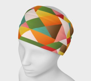Funky geometric shapes head band preview
