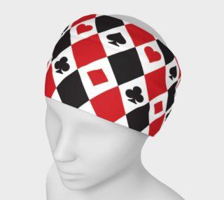 Casino - Hearts, Clubs, Spades, Diamonds Harlequin Pattern aperçu