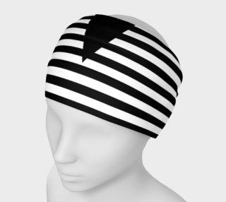 White Black Stripes Big Triangle preview