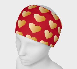 Aperçu de Red and Gold Valentine Hearts
