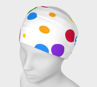 Rainbow Polka Dots - Large preview