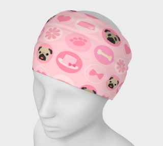 Aperçu de Valentine Pugs - Pastel Pink Fawn Pugs