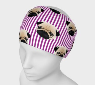Pugs on Purple Stripes preview